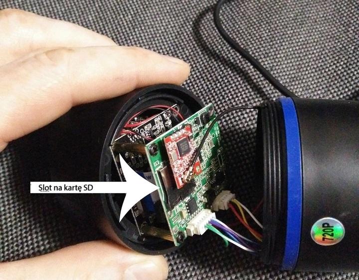 Kamera z zapisem na kartę micro SD